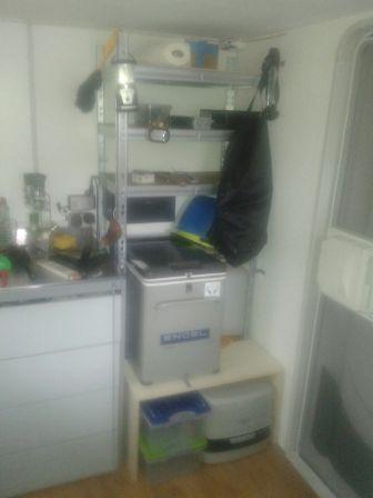 Kühlbox im Shelter