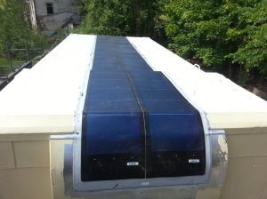 Solaranlage auf Shelter T244