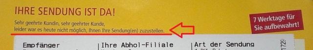 DHL Frechheit