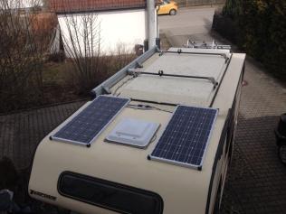 Solarzellen Tischer Wohnkabine