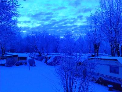 Winter auf dem Campingplatz